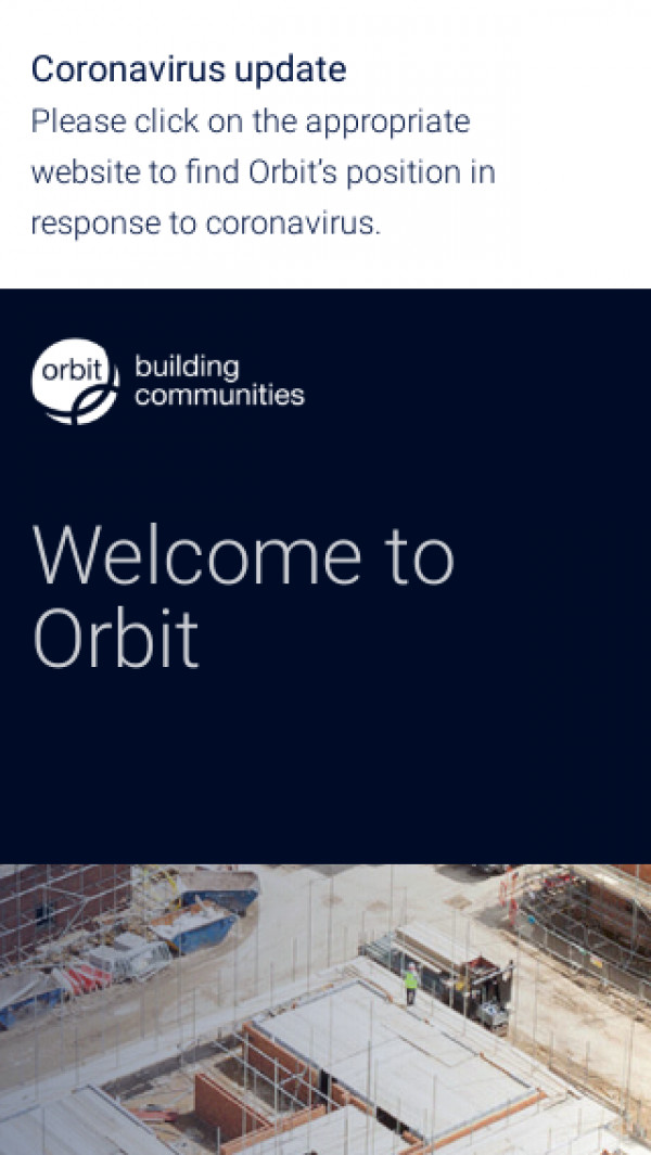 Mobile screenshot of Orbit Group Limited website