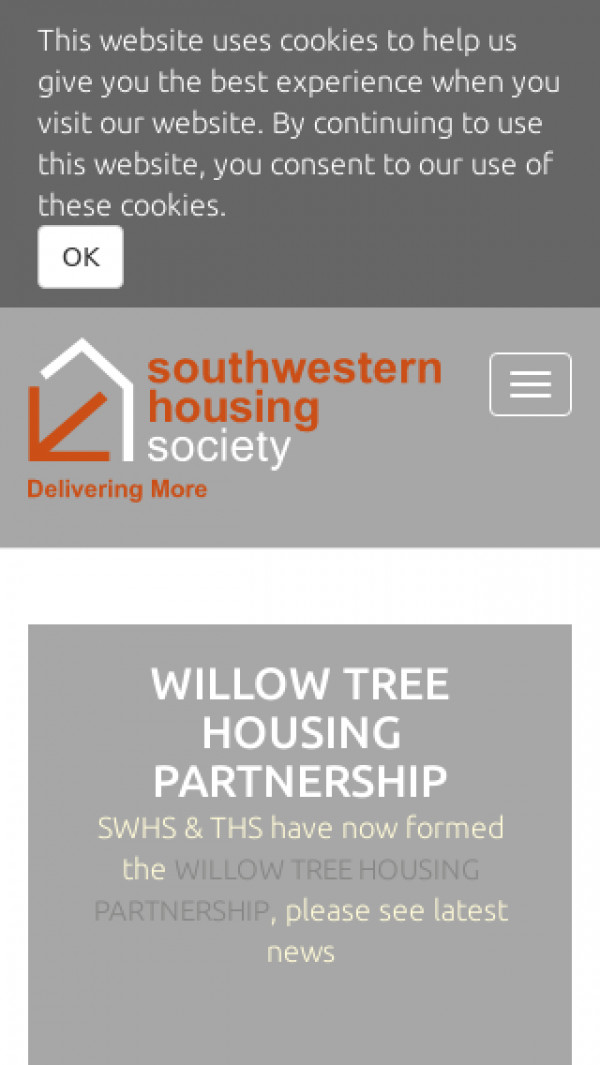 Mobile screenshot of South Western Housing Society Limited website
