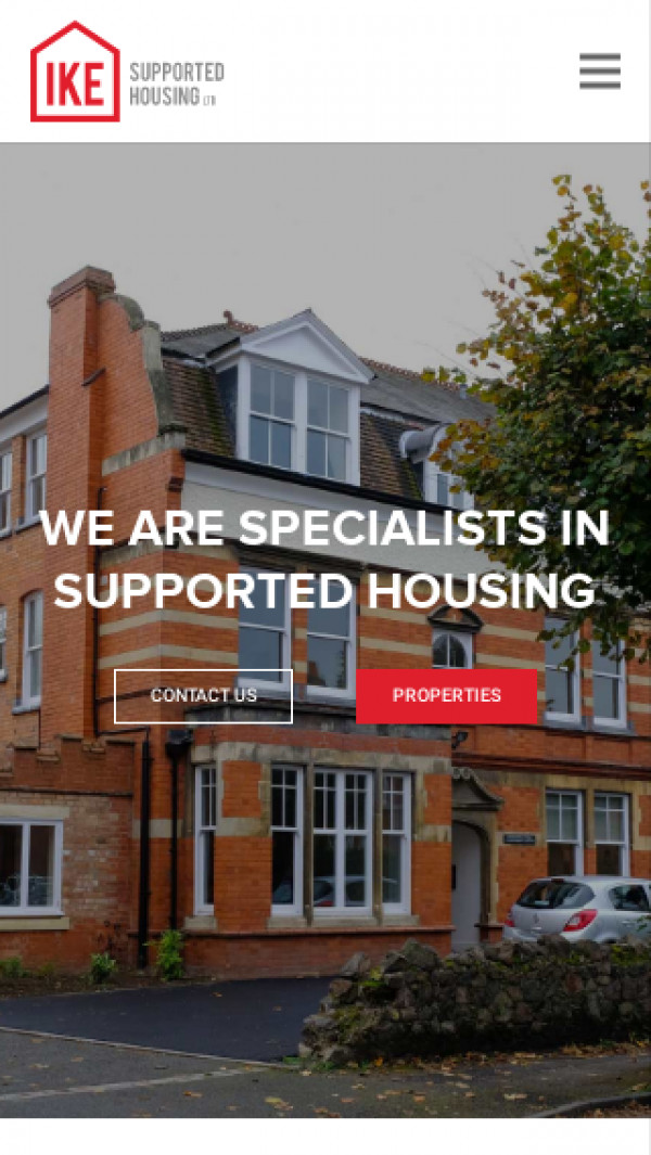 Mobile screenshot of IKE Supported Housing Limited website