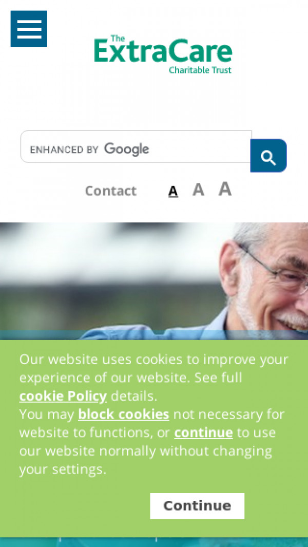 Mobile screenshot of The ExtraCare Charitable Trust website