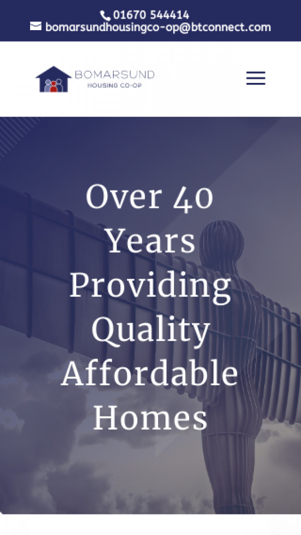Mobile screenshot of Bomarsund Housing Co-operative Limited website