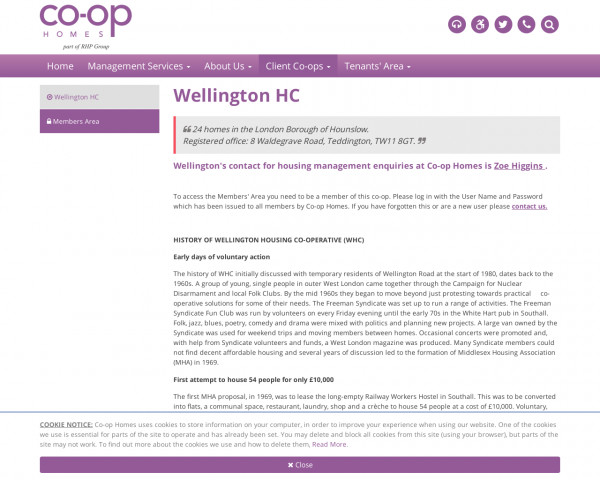Screenshot of Wellington HC