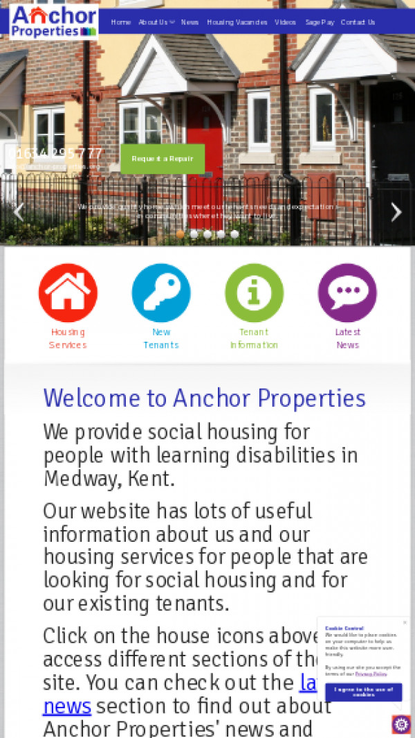 Mobile screenshot of Anchor Property Holdings Limited website