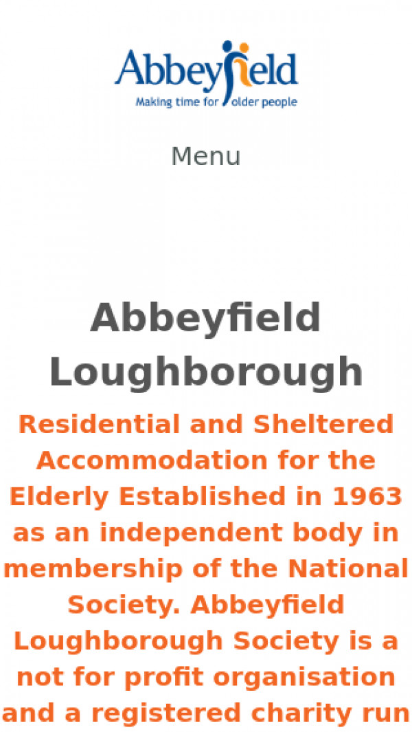 Mobile screenshot of The Abbeyfield Loughborough Society Limited website