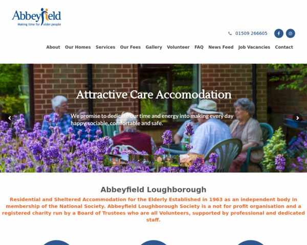 Screenshot of Abbeyfield Loughborough | Residential and Sheltered Accommodation for the Elderly