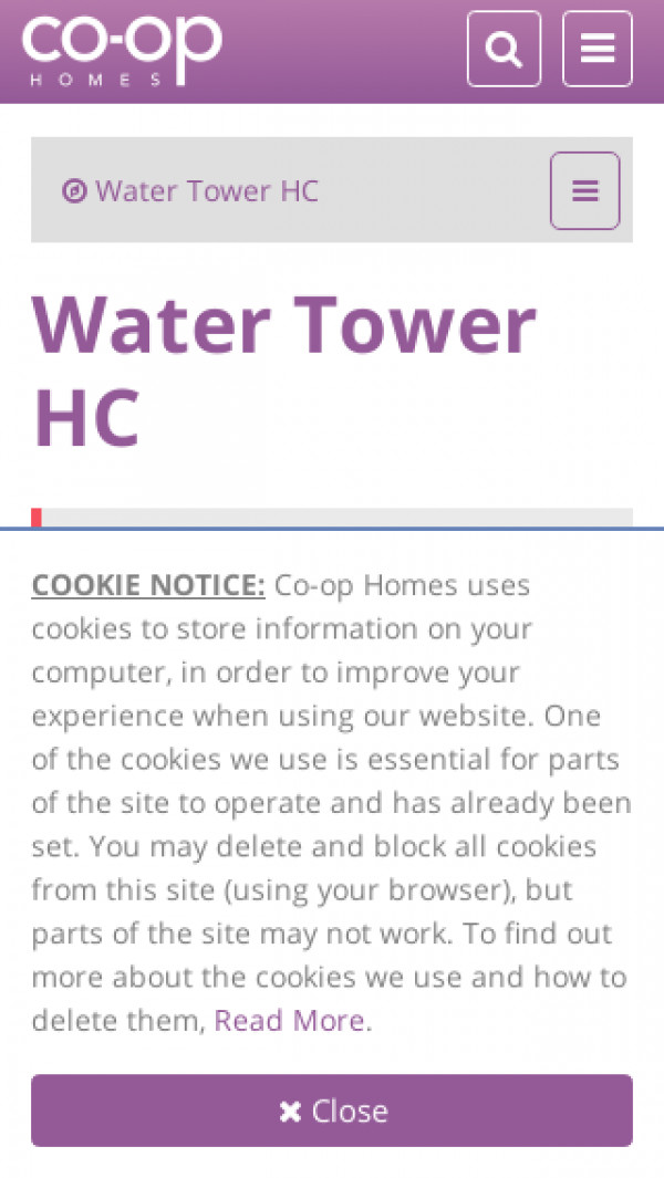 Mobile screenshot of Water Tower Housing Co-operative Limited website