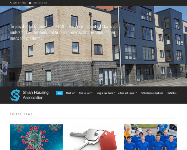 Desktop screenshot of Shian Housing Association Limited website