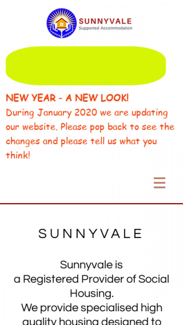 Mobile screenshot of Sunnyvale Supported Accommodation Ltd website