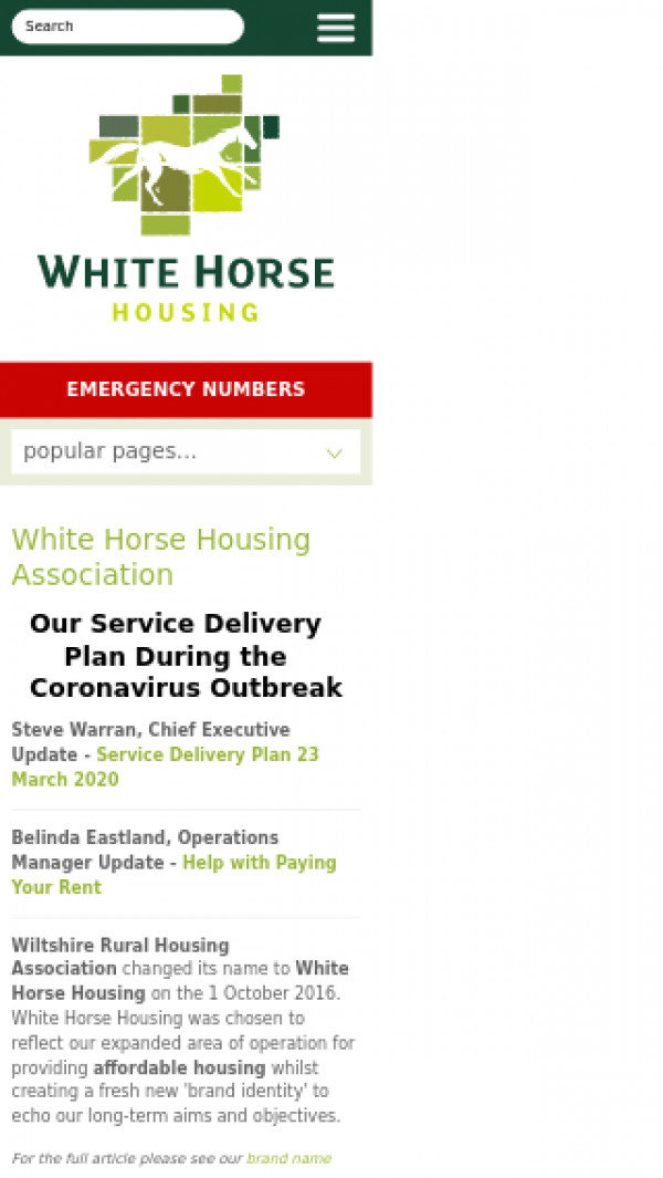 Screenshot of Affordable Housing Wiltshire | White Horse Housing