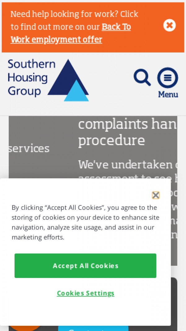 Mobile screenshot of Southern Home Ownership Limited website