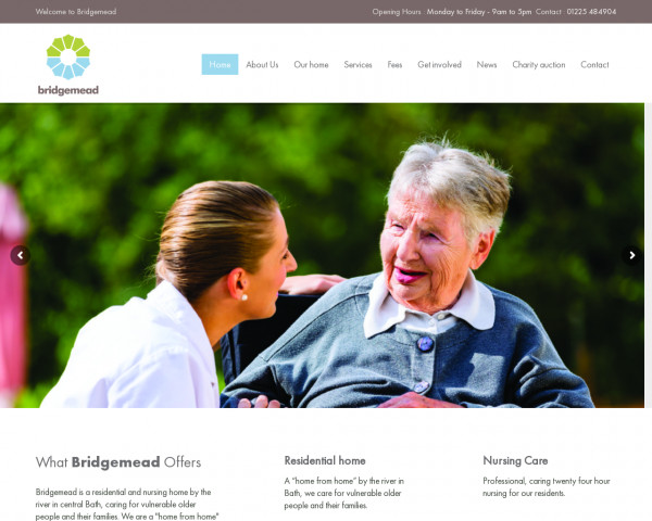Desktop screenshot of Bridge Care Limited website