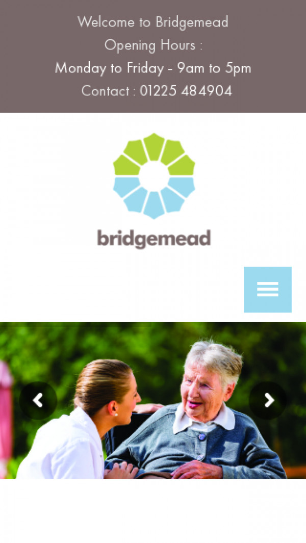 Mobile screenshot of Bridge Care Limited website