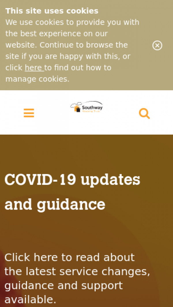 Mobile screenshot of Southway Housing Trust (Manchester) Limited website