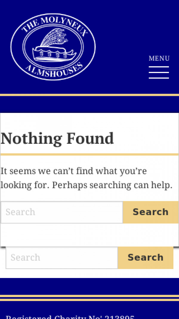Mobile screenshot of The Molyneux Almshouses website