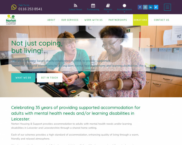 Screenshot of Norton Housing and Support – Norton Housing and Support