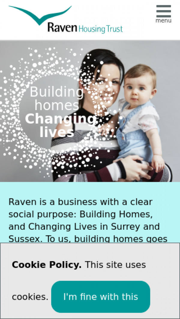 Mobile screenshot of Raven Housing Trust Limited website