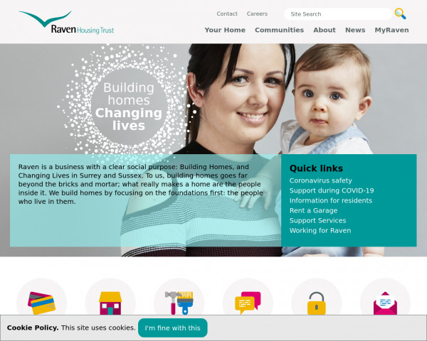 Desktop screenshot of Raven Housing Trust Limited website