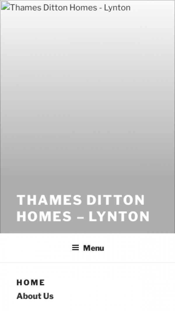 Mobile screenshot of Thames Ditton Homes Limited website