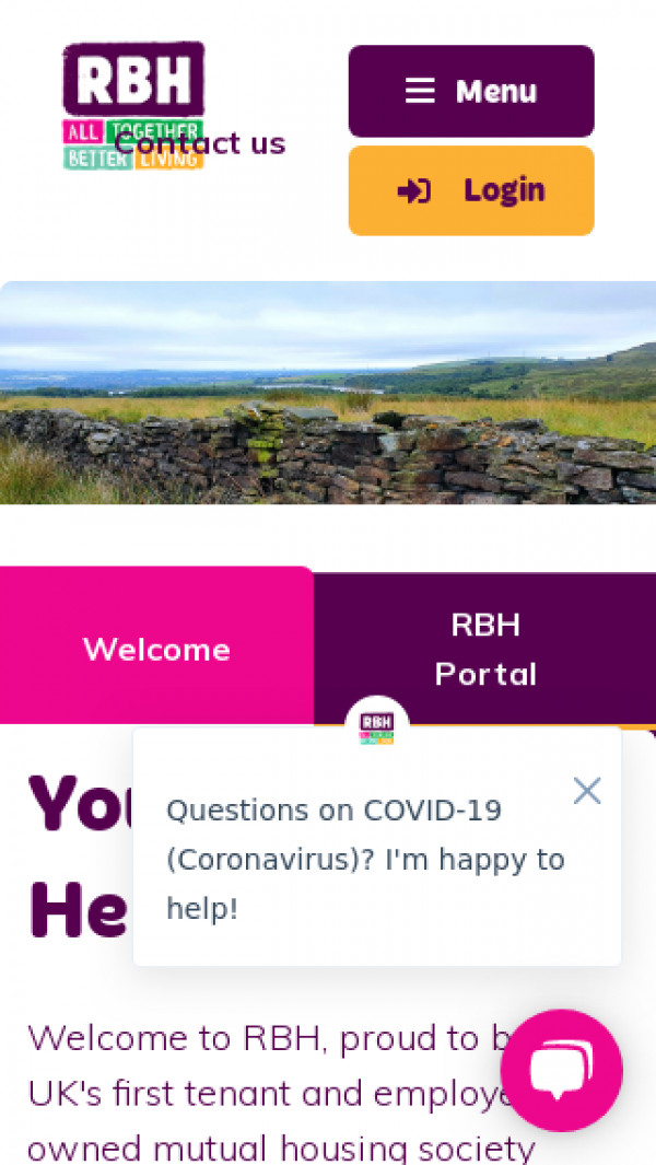 Mobile screenshot of Rochdale Boroughwide Housing Limited website
