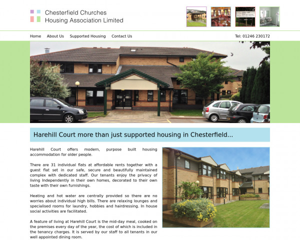 Desktop screenshot of Chesterfield Churches Housing Association Limited website