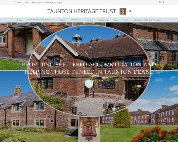 Desktop screenshot of Taunton Heritage Trust website