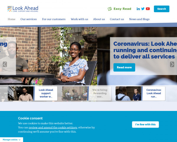 Screenshot of Home | Look Ahead | Providing Care, Support, & Housing