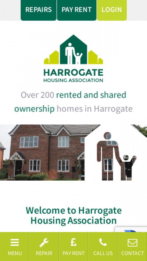 Mobile screenshot of Harrogate Housing Association Limited website