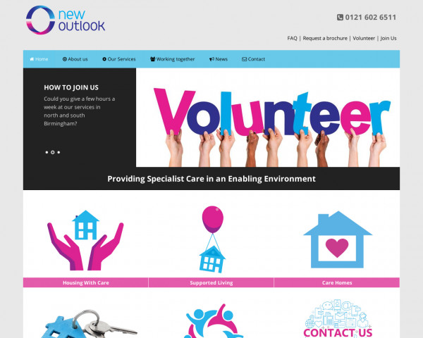 Desktop screenshot of New Outlook Housing Association Limited website