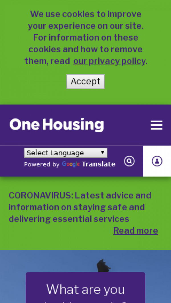 Mobile screenshot of One Housing Group Limited website
