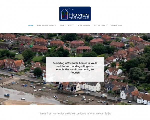 Desktop screenshot of Homes for Wells Limited website