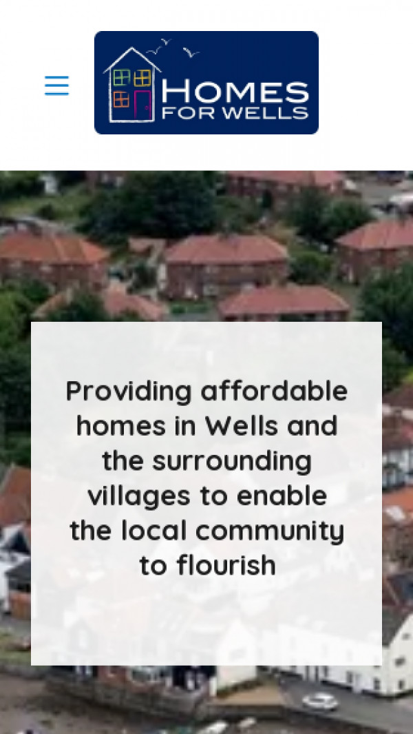 Mobile screenshot of Homes for Wells Limited website