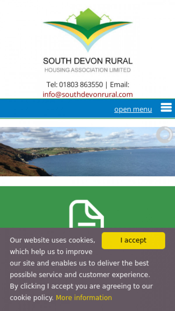Mobile screenshot of South Devon Rural Housing Association Limited website
