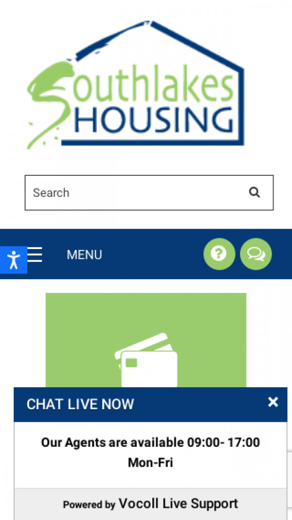 Mobile screenshot of South Lakes Housing website