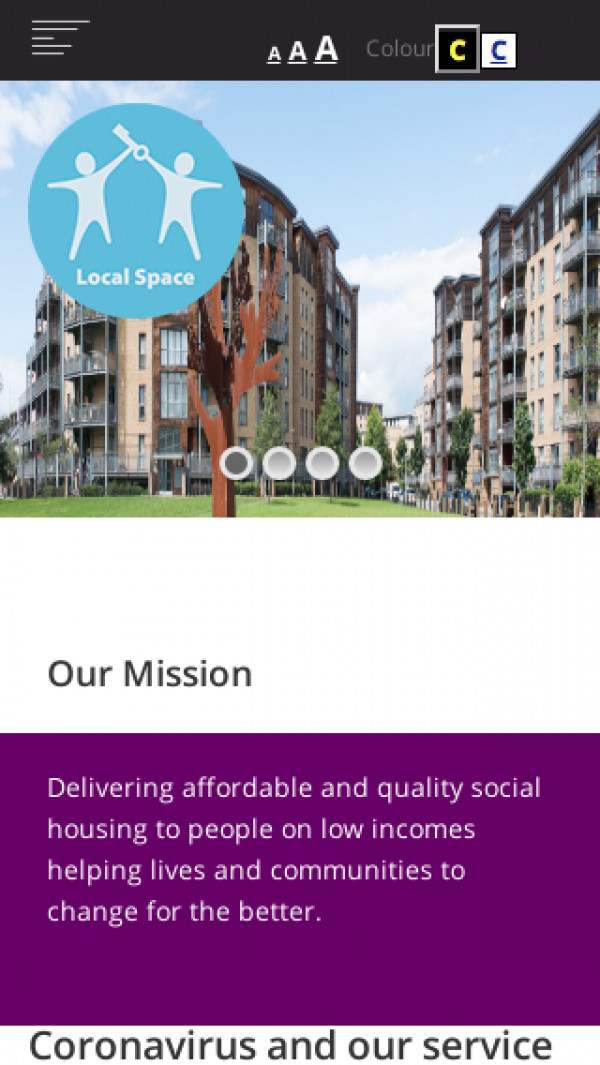 Mobile screenshot of Local Space Limited website