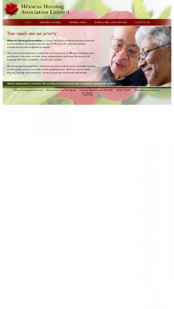 Mobile screenshot of Hibiscus Housing Association Limited website