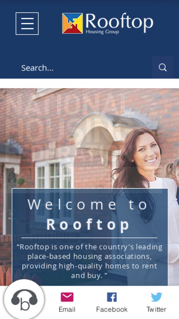 Mobile screenshot of Rooftop Homes Limited website