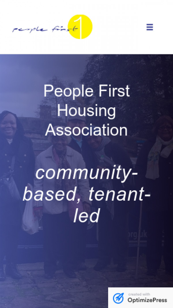 Mobile screenshot of People First Housing Association Limited website