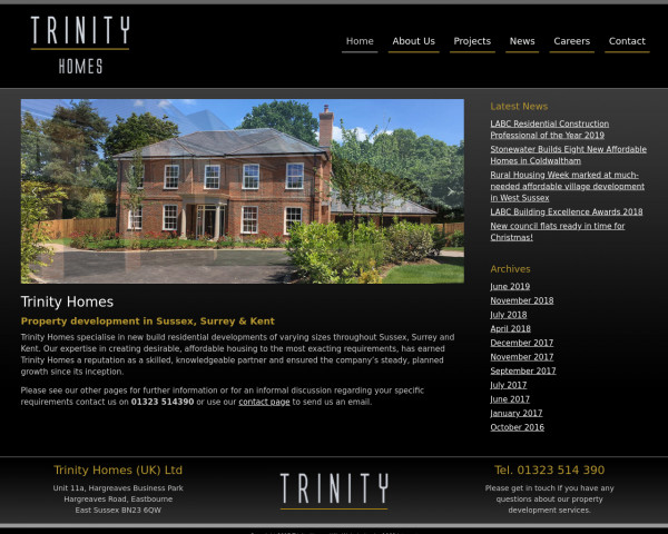 Screenshot of Trinity Homes