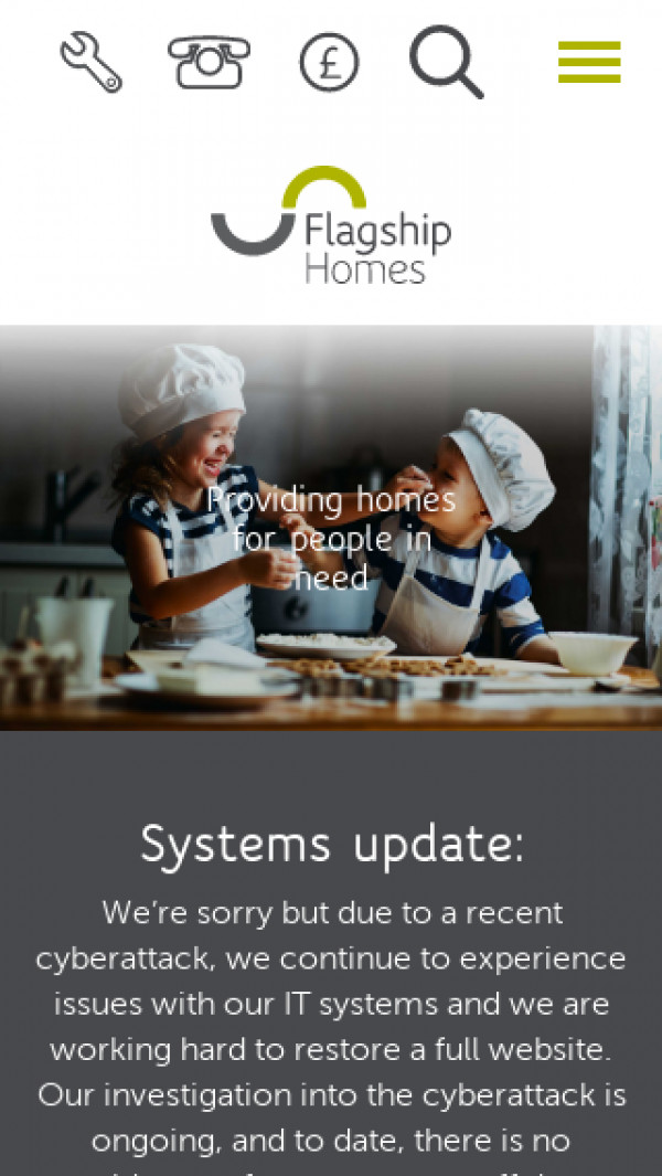 Mobile screenshot of Flagship Housing Group Limited website