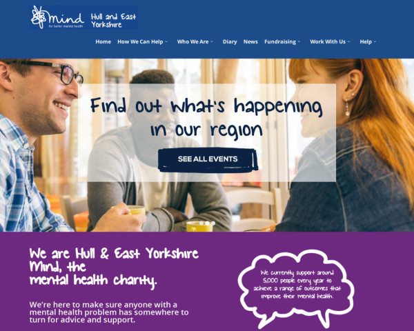 Desktop screenshot of Hull and East Yorkshire Mind website