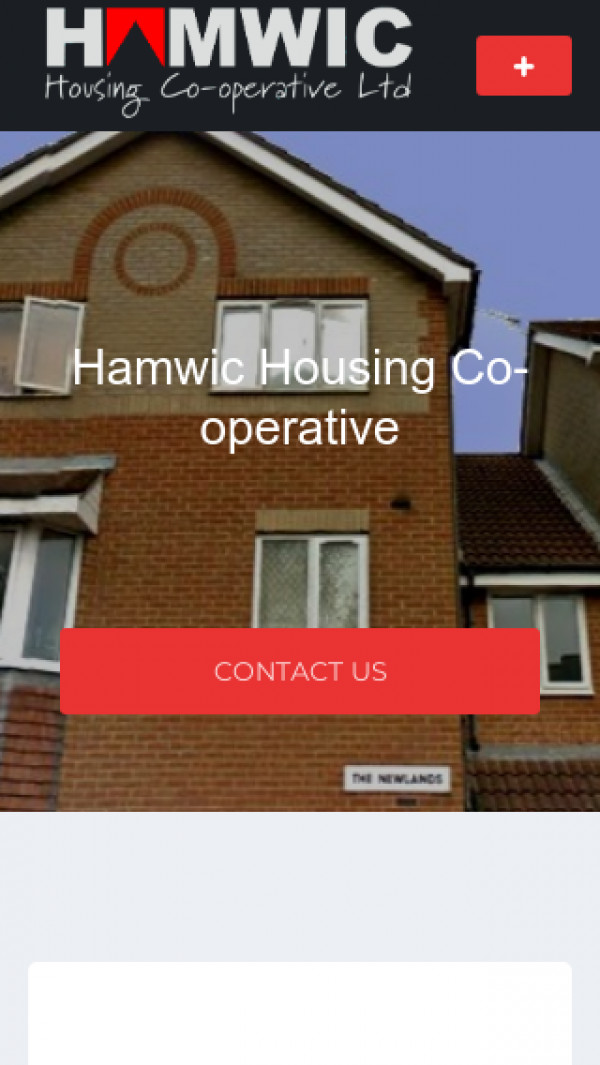 Mobile screenshot of Hamwic Housing Co-operative Limited website