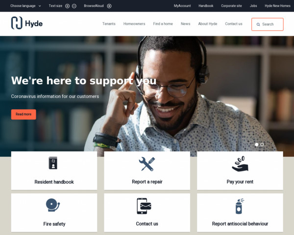 Screenshot of The Hyde Group website | The Hyde Group