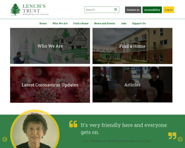 Desktop screenshot of Lench's Trust website