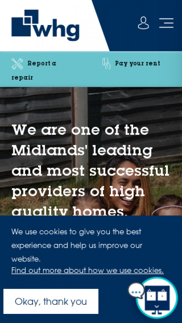 Mobile screenshot of Walsall Housing Group Limited website