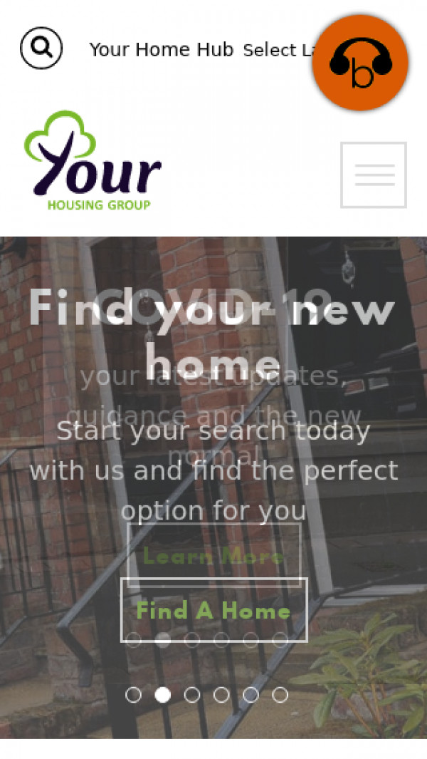 Mobile screenshot of Your Housing Limited website