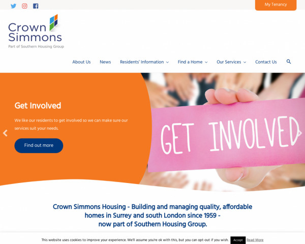 Desktop screenshot of Rosemary Simmons Memorial Housing Association Limited website