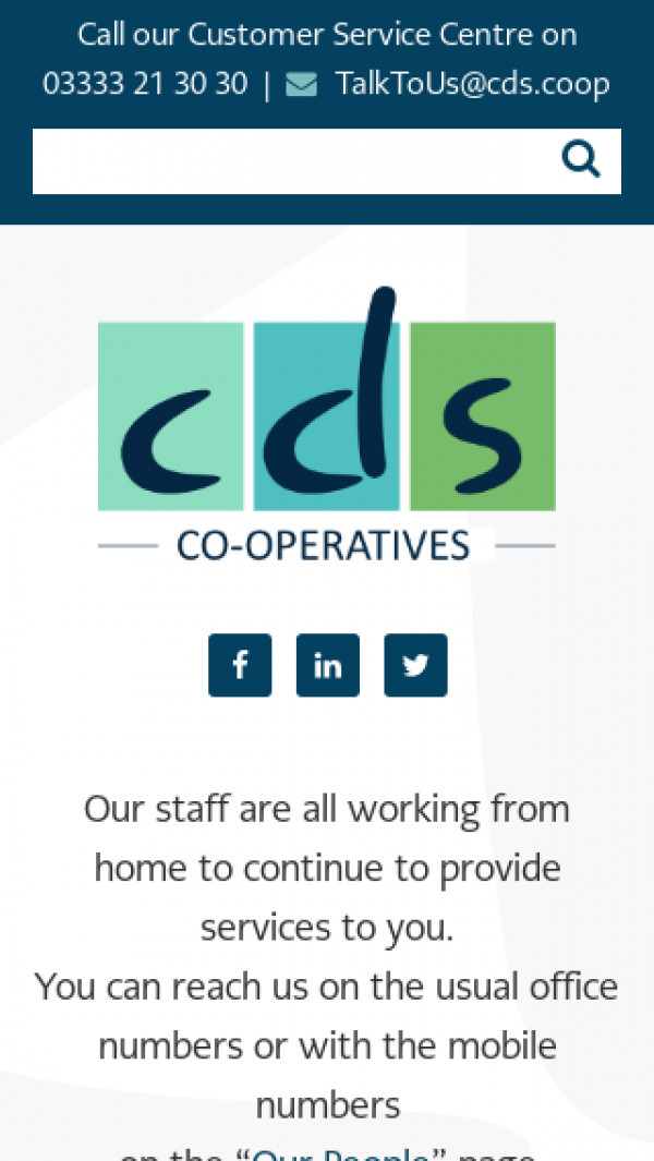 Mobile screenshot of Co-operative Development Society Limited website