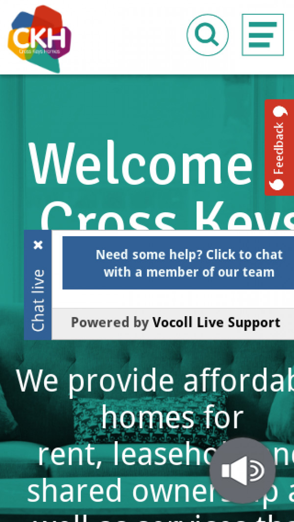 Mobile screenshot of Cross Keys Homes Limited website