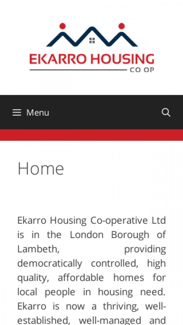 Mobile screenshot of Ekarro Housing Co-operative Limited website
