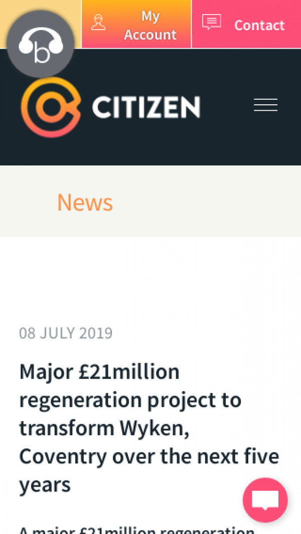 Screenshot of Citizen | Major £21million regeneration project to transform Wyken, Coventry over the next five years